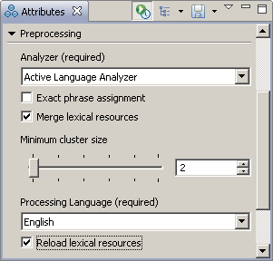 Preprocessing attributes section